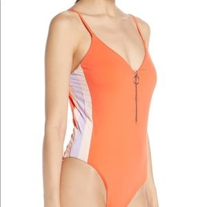 The Bikini Lab Front Zip One-Piece Swimsuit
